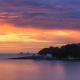 coucher de soleil avec ciel de feu