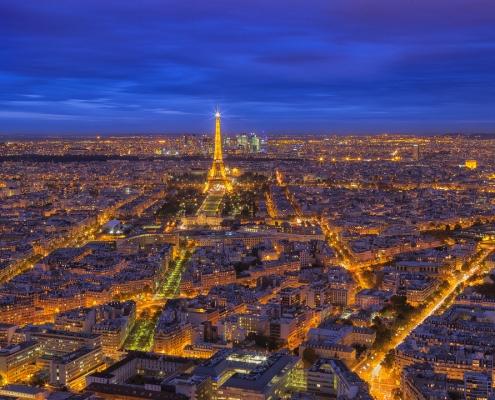 photo depuis la tour montparnasse sur tout paris