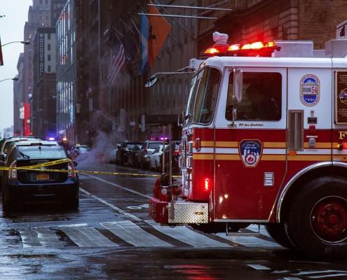 camion de pompier new york