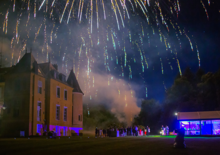 feu d'artifice au château de Vaugrigneuse